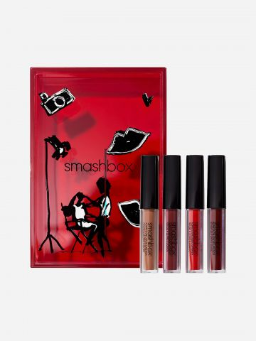 מארז 4 שפתונים Always On Liquid Lip Set של SMASHBOX