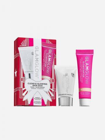 הצמד המושלם למראה נקי וזוהר Clear & Glowing Skin Duo של GLAMGLOW