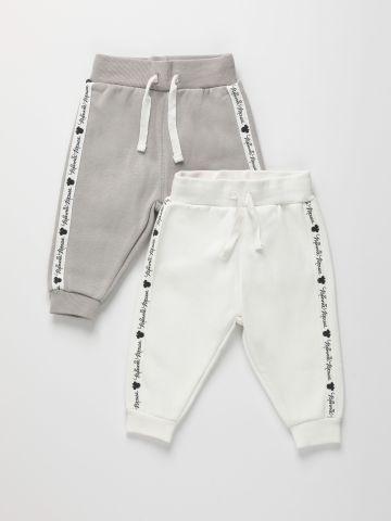 מארז 2 מכנסי טרנינג עם סטריפים / 3M-3Y של FOX
