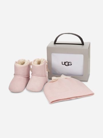 סט מגפי עור וצמר וכובע גרב / בייבי בנות של UGG