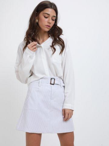 חצאית מיני בהדפס פסים של YANGA