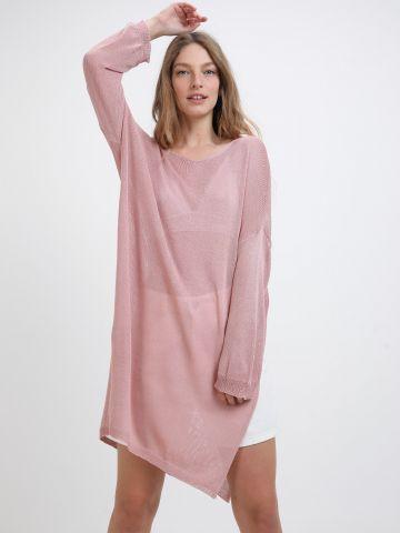 שמלת מיני רשת עם שסעים של YANGA