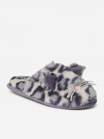 נעלי בית דמוי פרווה חתול של DEARFOAMS