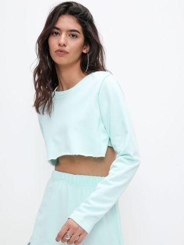 חולצת קרופ חלקה של TERMINAL X