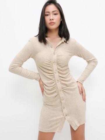 שמלת מיני מכופתרת של TERMINAL X