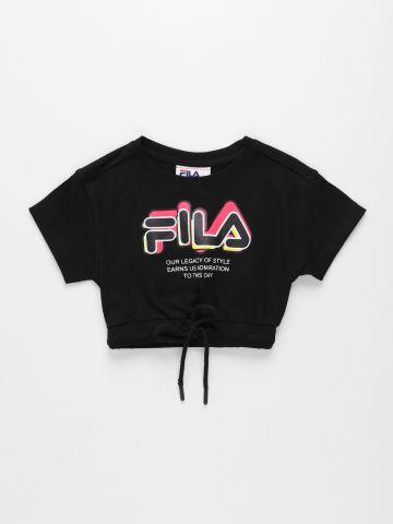 טי שירט עם הדפס לוגו / בנות של FILA