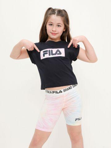 סט חולצה וטייץ רכיבה עם לוגו של FILA