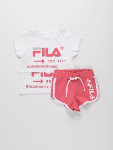 סט חולצה ומכנסיים קצרים עם לוגו / 6M-24M של FILA
