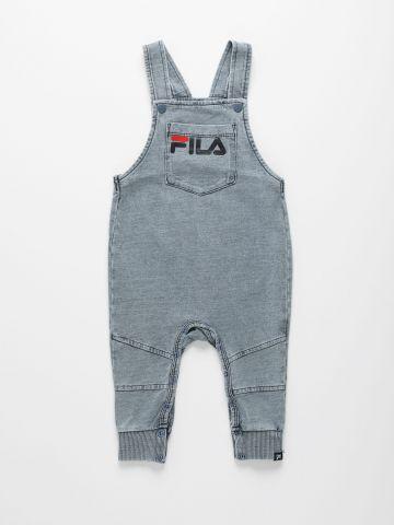 אוברול דמוי ג'ינס עם כיס לוגו בחזית/ בייבי בנים של FILA