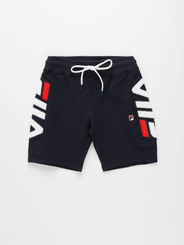 מכנסי ברמודה קצרים עם רקמת לוגו / בנים של FILA