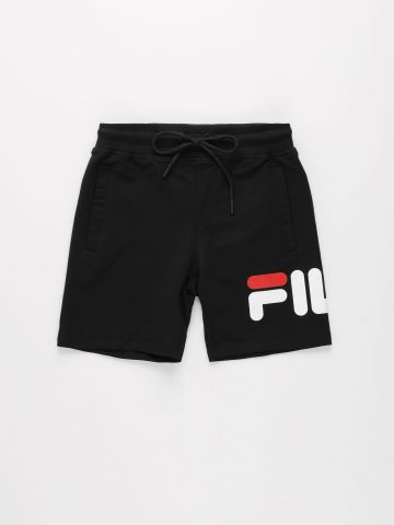 מכנסי ברמודה קצרים עם הדפס לוגו / בנים של FILA