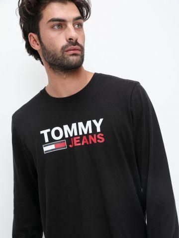 טי שירט עם הדפס לוגו של TOMMY HILFIGER