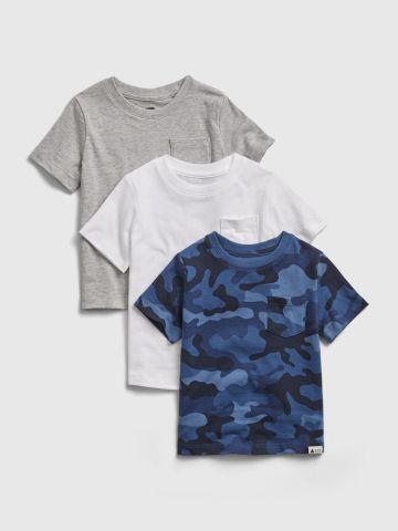 מארז 3 חולצות קצרות עם לוגו / 12M-5Y של GAP