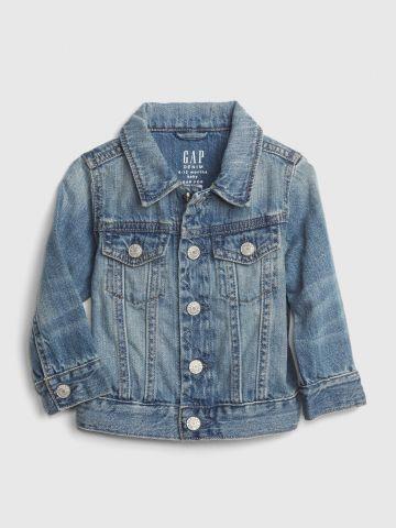 ג'קט ג'ינס עם כיסים / 0-24M של GAP