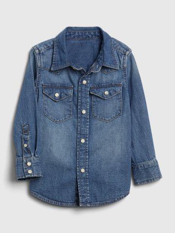 חולצת ג'ינס מכופתרת / 12M-5Y של GAP