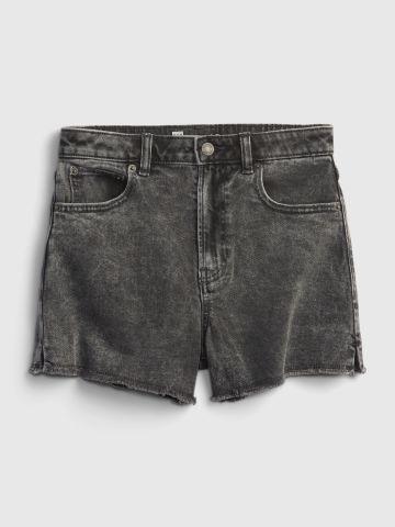 ג'ינס קצר ווש עם סיומת סיומת פרומה / נערות של GAP