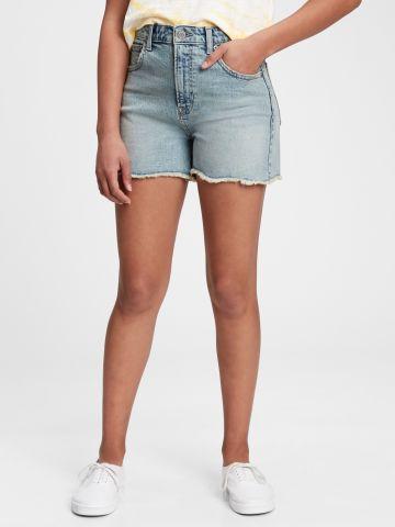מכנסי ג'ינס קצרים עם סיומת פרנזים / בנות של GAP