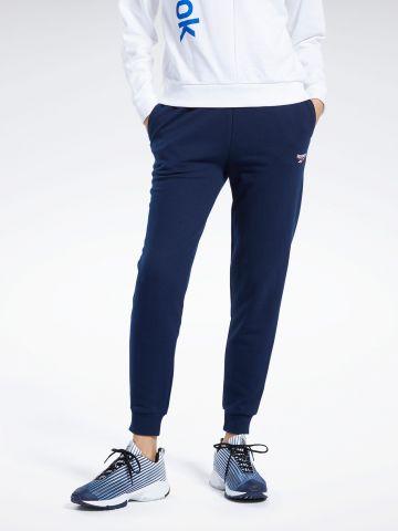 מכנסי טרנינג עם רקמת לוגו של REEBOK