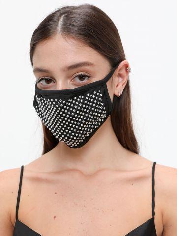 מסיכת פנים בעיטור ניטים / תחפושות לפורים של TERMINAL X