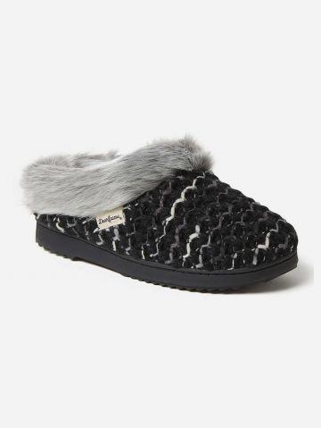 נעלי בית סרוגות עם בטנה פרוותית / נשים של DEARFOAMS