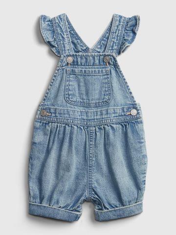 אוברול ג'ינס עם כתפיות מלמלה / 0-24M של GAP