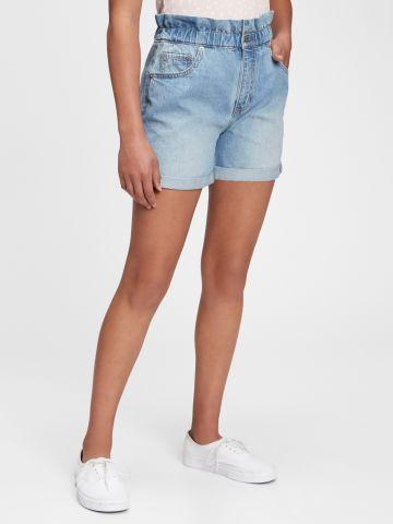 מכנסי ג'ינס קצרים בגזרת MOM / בנות של GAP