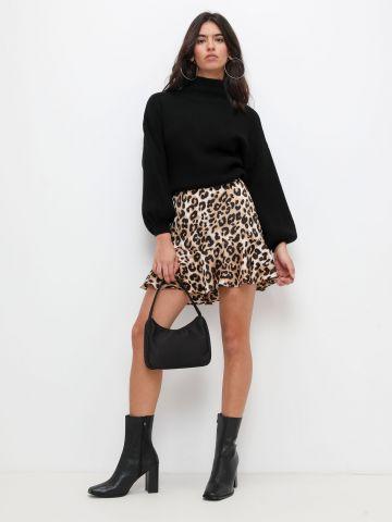 חצאית מיני סאטן של TERMINAL X