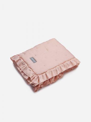 שמיכה עם סיומת מסולסלת / בייבי בנות של NINO
