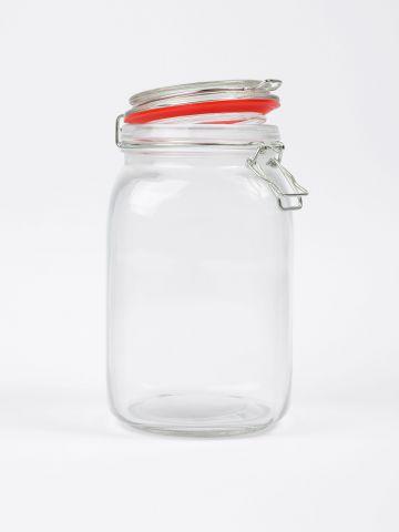 צנצנת זכוכית בסגירת קליפס של FOX HOME