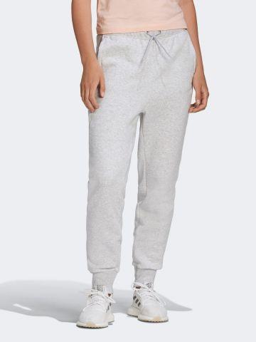 מכנסי טרנינג מלאנז' עם לוגו של ADIDAS Performance