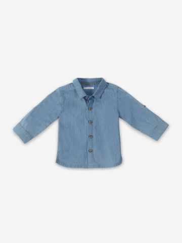 חולצה דמוי ג'ינס מכופתרת / 6M-24M של MINENE