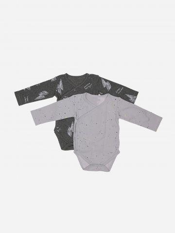 מארז 2 בגדי גוף עם כפתורים / 0M-3M של MINENE