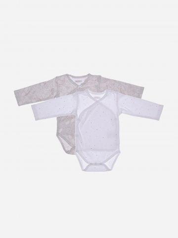 מארז 2 בגדי גוף מעטפת בהדפסים שונים / 0M-3M של MINENE