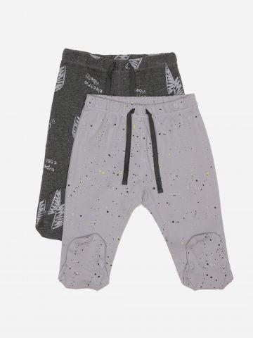 מארז 2 מכנסי טרנינג עם רגליות / 0M-3M של MINENE
