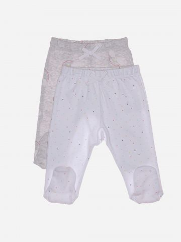 מארז 2 מכנסי טרנינג בהדפסים שונים עם רגליות / 0M-3M של MINENE