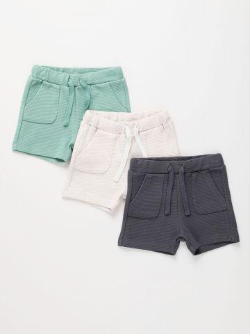 מארז 3 מכנסיים קצרים בטקסטורה / 3M-6Y של TERMINAL X KIDS