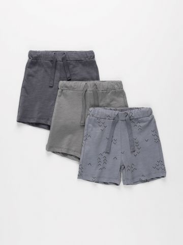 מארז 3 מכנסיים קצרים מבד ג'רסי דק / 6M-4Y של TERMINAL X KIDS