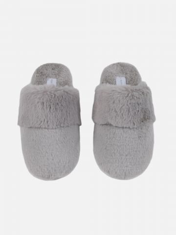 נעלי בית דמוי פרווה סגנון כפכף / נשים של FOX HOME