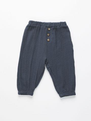 מכנסי טטרה עם כפתורים / 12M-3Y של TERMINAL X KIDS