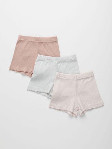 מארז 3 מכנסי פוינטל עם חירורים דקורטיבים / 6M-6Y של TERMINAL X KIDS