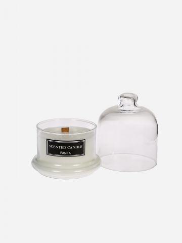 נר ריחני פעמון זכוכית Green Tea של FUSHIA