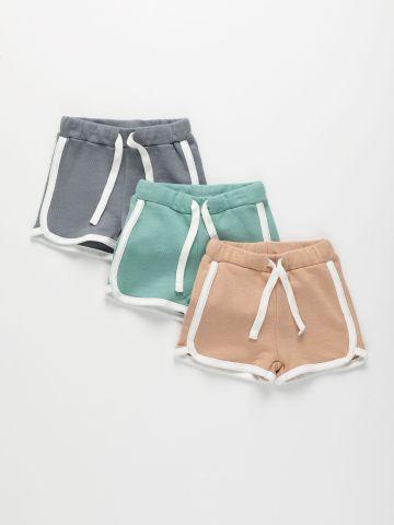 מארז 3 מכנסי פרנץ' טרי קצרים / 3M-4Y של TERMINAL X KIDS