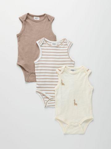 מארז 3 בגדי גוף קצרים / 0-2Y של TERMINAL X KIDS