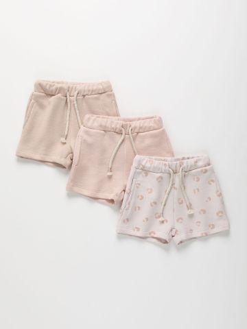 מארז 3 מכנסיים קצרים פרנץ' טרי בצבעים שונים / 3M-11Y של TERMINAL X KIDS