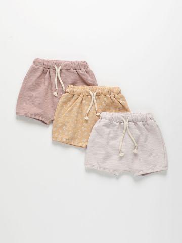 מארז 3 מכנסיים קצרים בצבעים שונים / 0-2Y של TERMINAL X KIDS