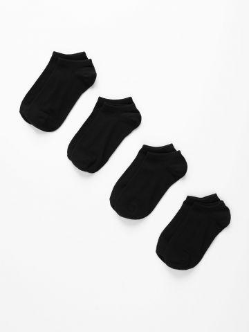 מארז 4 גרביים נמוכים של FOX
