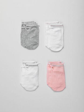 מארז 4 זוגות גרביים עם פפיון / בייבי בנות של FOX