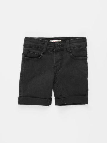 מכנסי ג'ינס קצרים בסיומת קיפול / בנים של FOX