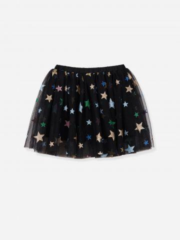 חצאית טול בהדפס כוכבים / בנות של FLAMINGO