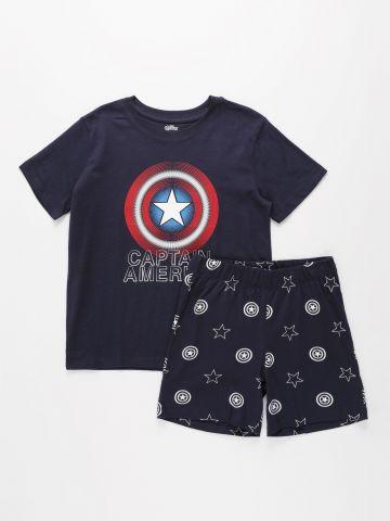 סט פיג'מה בהדפס קפטן אמריקה / בנים של FOX